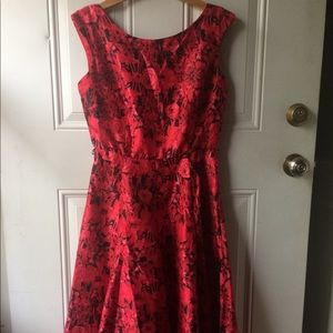 Flirty Floral Red Dress